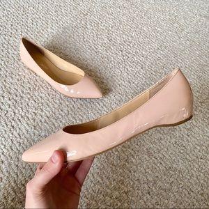 Pointy toe blush flats